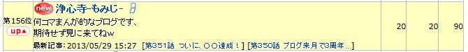 5月29日、ブログランキング156位でしたw、670.75
