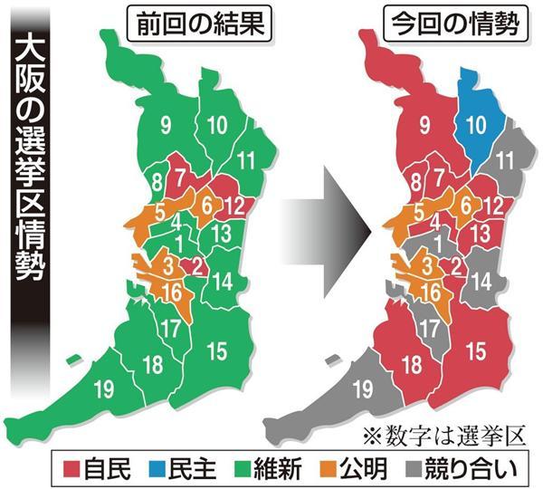 2014衆議院選大阪の状況