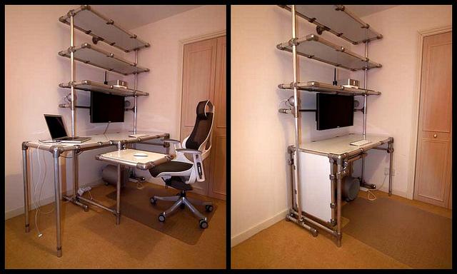 Log Furniture Computer Desk
