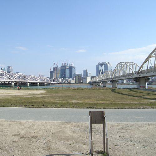 淀川の河川敷