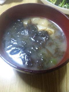 生海苔の味噌汁