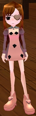 ミニブーツ トランプ クローバー衣装(女性用) 9