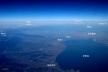 写真8:紀伊半島から伊勢湾上空へ