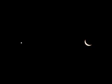 月と金星(20140130)