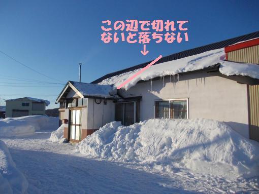 20130117_玄関屋根雪下ろし後