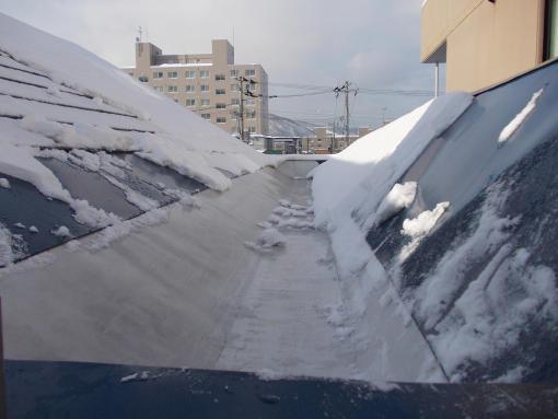 20130116_電気融雪屋根の様子