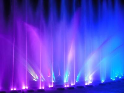 夜の噴水ショー2