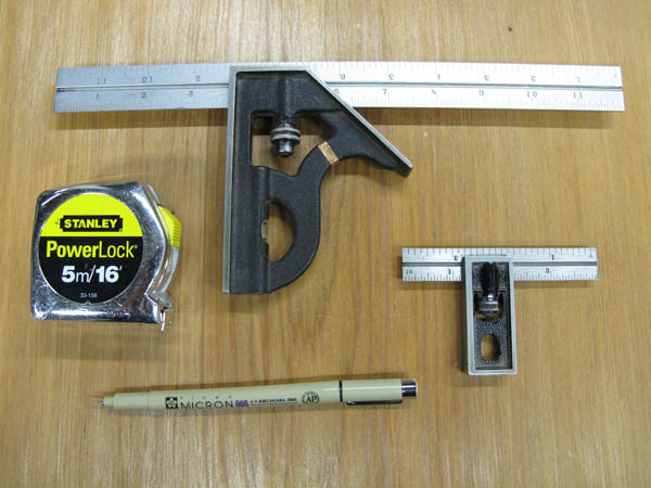 Standard woodworking tools
