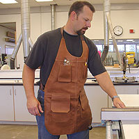 leather woodworking apron