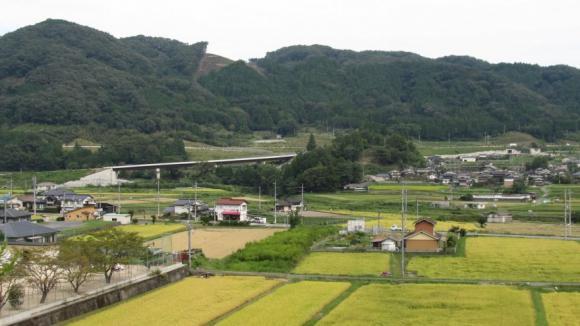 鳥取自動車道(大原IC付近)遠景