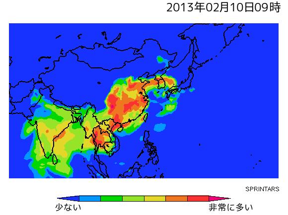 大気汚染物質予測動画のキャプチャー画像