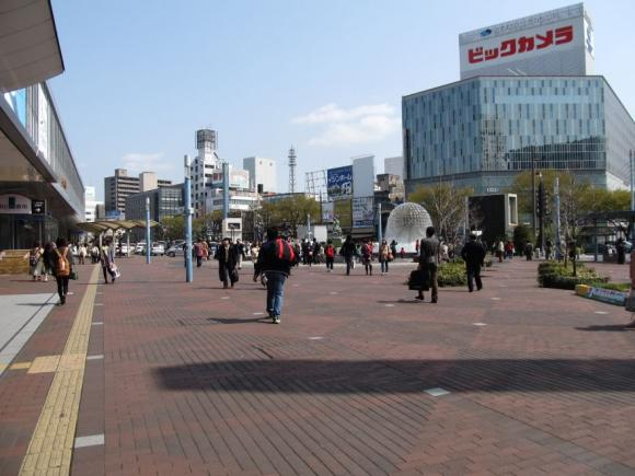 岡山駅東口広場