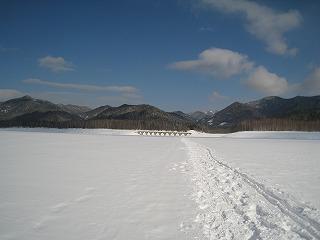 糠平湖面雪上1