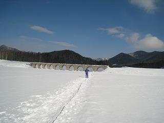糠平湖上雪上2