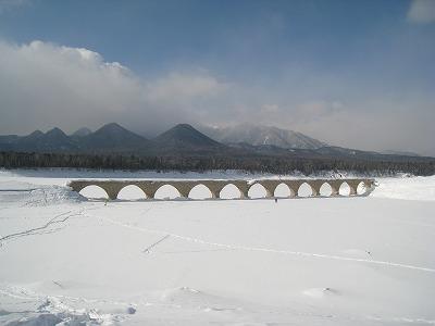 糠平タウシュベツ橋梁北面