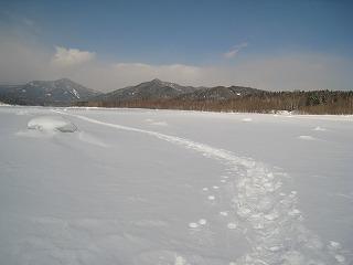 糠平湖上雪上3