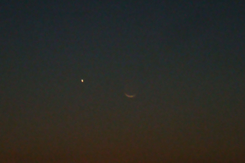 星と三日月