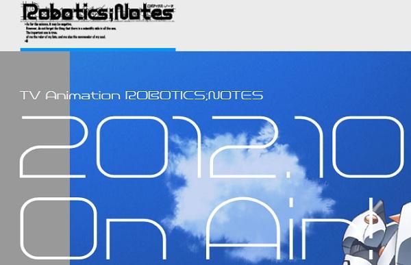 TVアニメ『ROBOTICS;NOTES』公式サイトオープン! ビジュアル絵、PV、スタッフ公開
