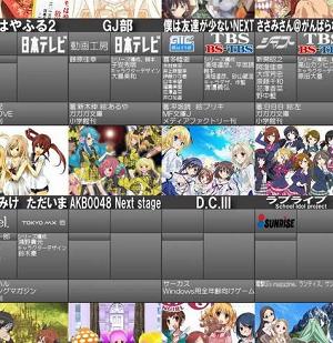 2013年冬アニメ一覧画像最新版公開!  結構増えてきたな