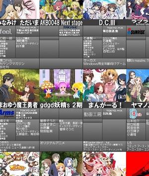 2013年冬アニメ一覧表最新版公開! これで冬アニメは出揃ったか