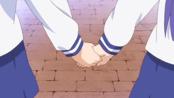 『ゆゆ式』第5話・・・仲良く手をつないでたけど、ゆずこェ・・・ハブられてるよ・・・