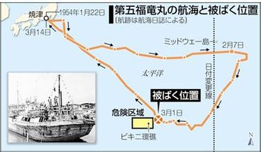 blog 第五福竜丸の航海と被ばく位置