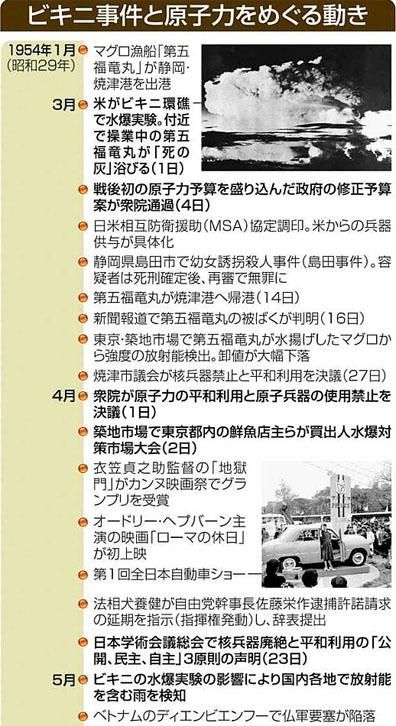 blog ビキニ事件と原子力をめぐる動き1
