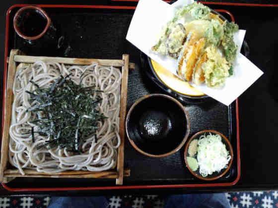 小松屋野菜天ざる120429