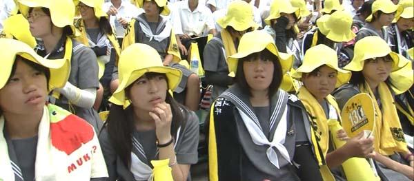 熊本県立済々黌高校 せいせいこう 女子高生 灰色セーラー服