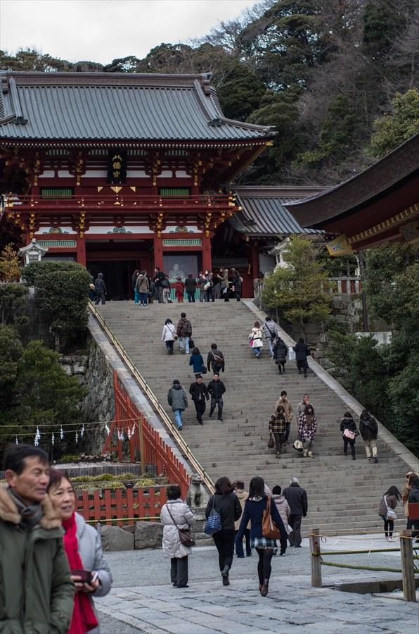 鶴岡八幡宮参拝本宮前階段06