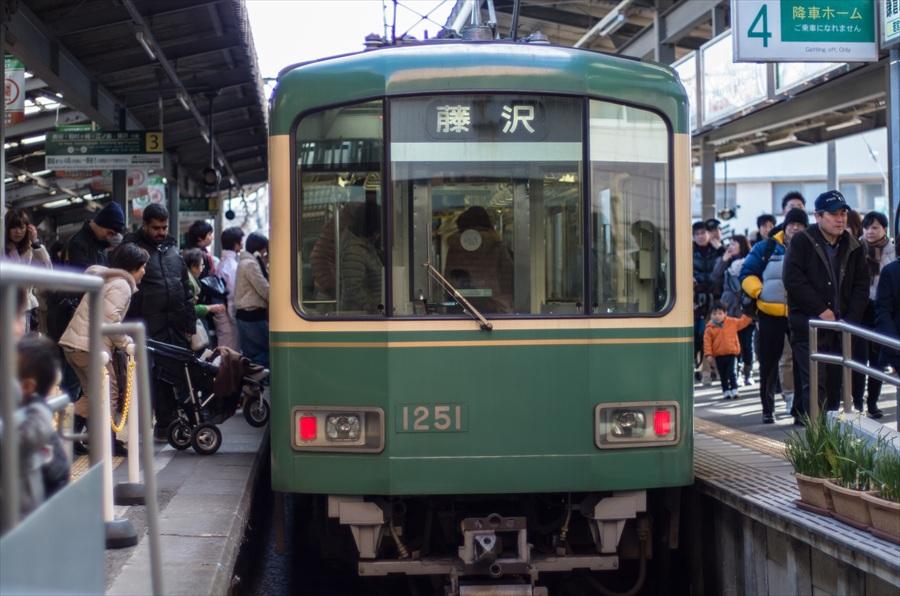 江ノ電鎌倉駅乗降06