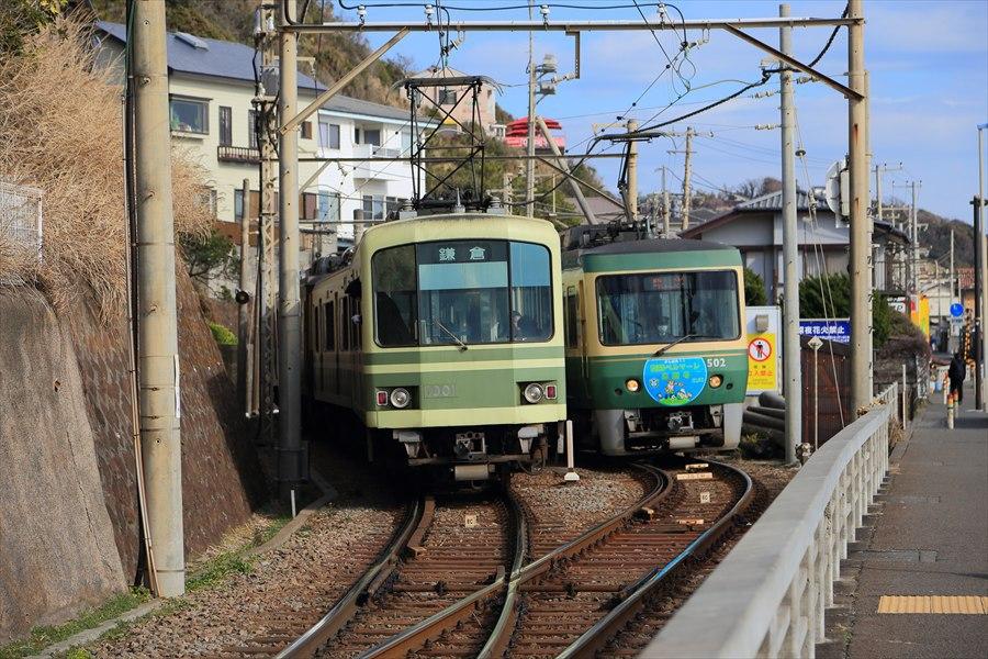 江ノ電信号所交錯停止09