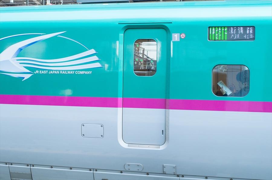 東北新幹線東京駅はやぶさE5マーク部08