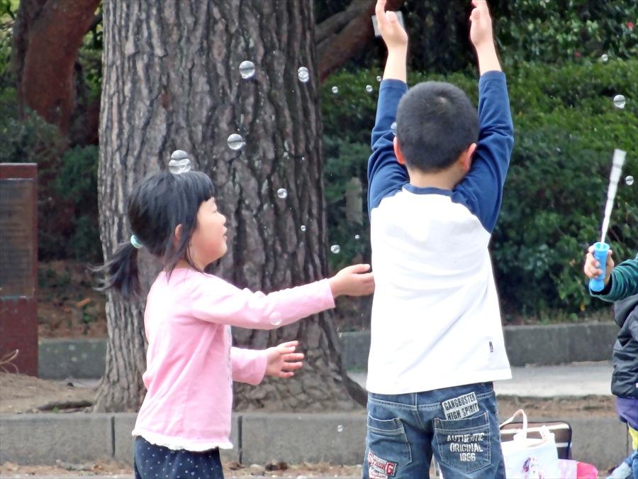 仙台榴岡公園桜その3シャボン玉11