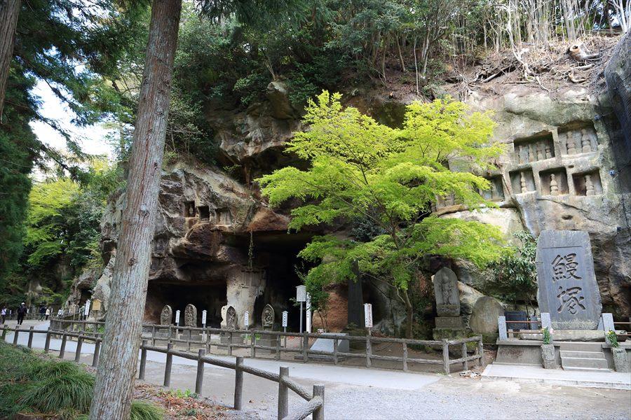 松島瑞巌寺うなぎヅカと砂岩にほられた修行地03