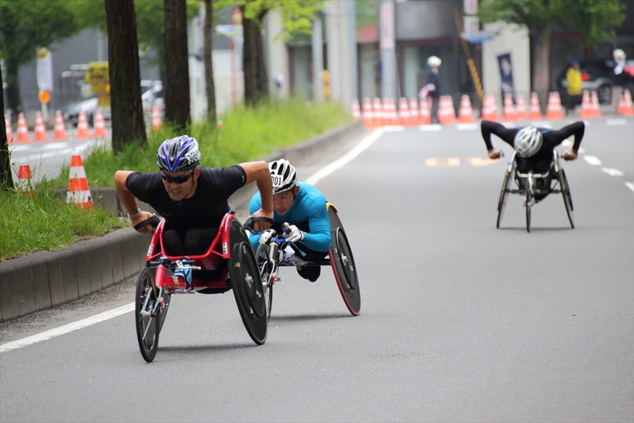 仙台ハーフ車椅子激走02