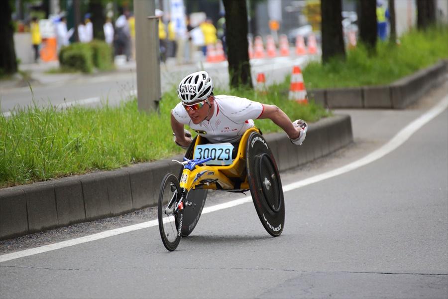 仙台ハーフ車椅子激走03