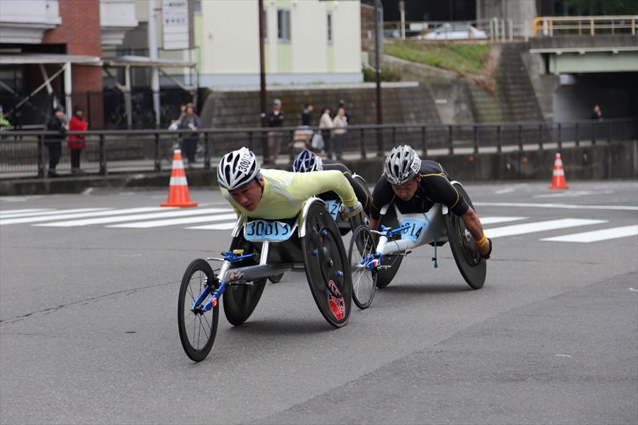 仙台ハーフ車椅子激走後半04