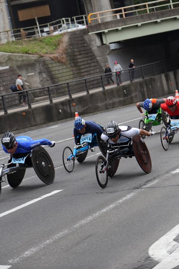 仙台ハーフ車椅子激走後半05