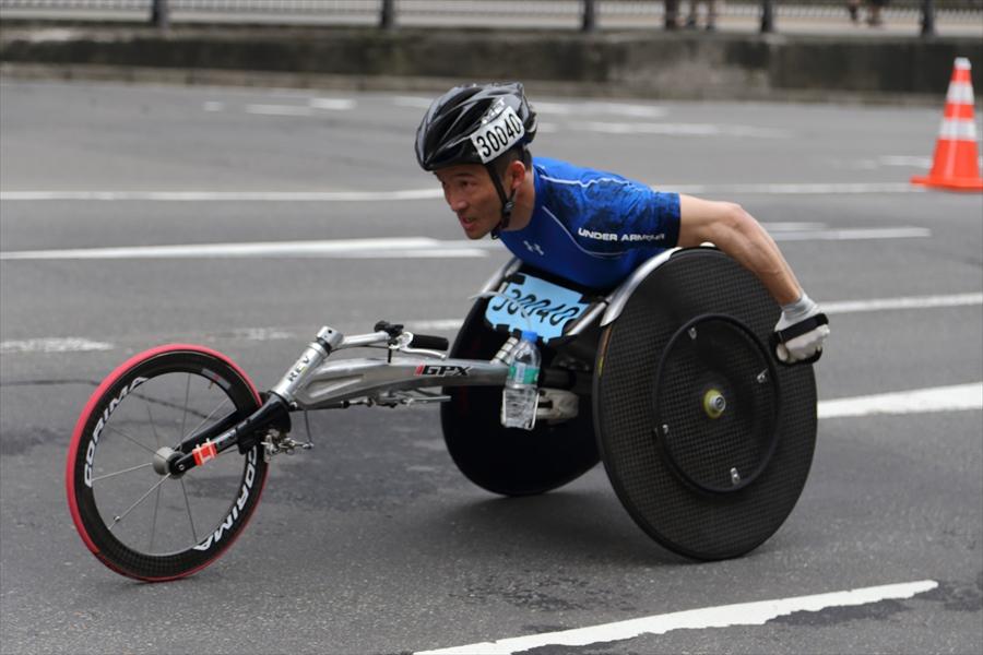 仙台ハーフ車椅子激走後半06