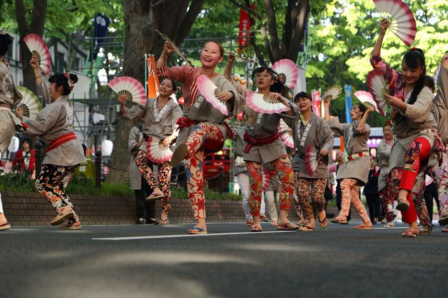 青葉祭り雀踊りその2常禅寺踊り染物03