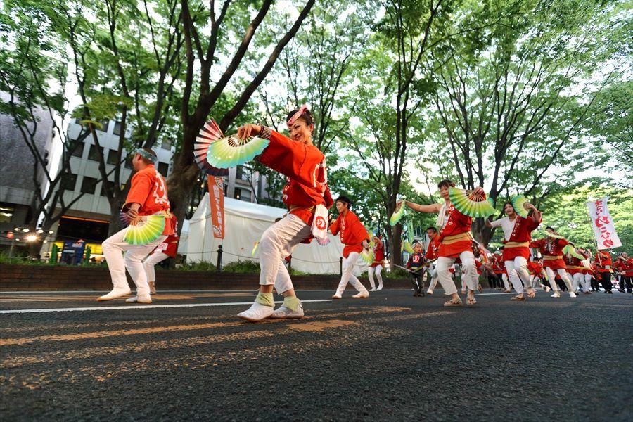青葉祭り雀踊りその2常禅寺オレンジ07