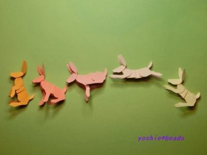 切り折り紙 ウサギ