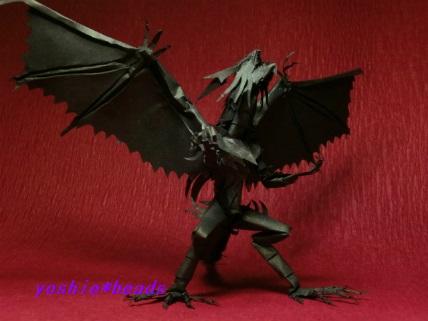 息子の切り折り紙 ドラゴン