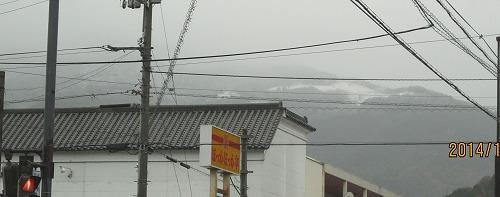 山は雪!!