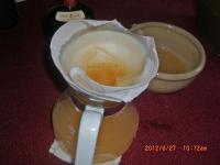 H240627柿酢を濾す