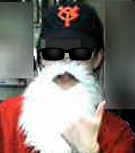 ジャイアンツ帽サンタ