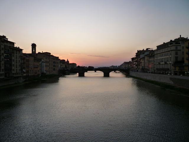 tramonto su arno