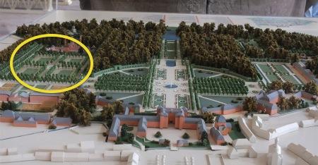 シュヴェツィンゲン庭園の模型