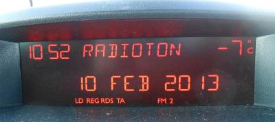 2月10日の外気温